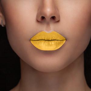 Yellow lipgloss
