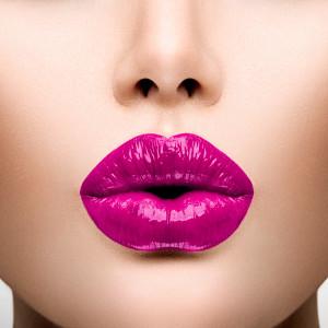 Sexy Lips. Beautiful Make-up Closeup
